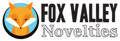 Fox Valley Novelties logo. The inventor company of the conester