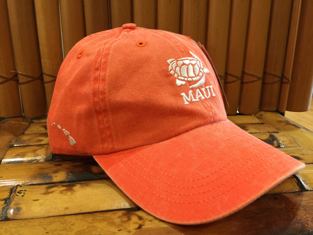 Womens Maui Cap  Orange Honu