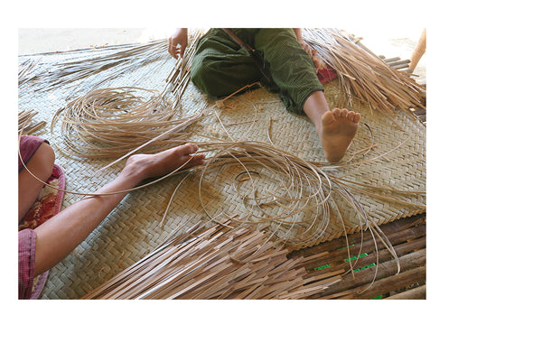 Stripping the bamboo