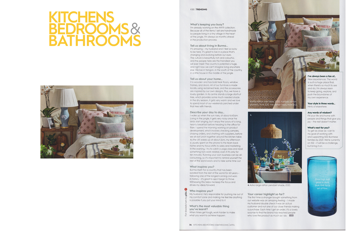 Kalinko featured in Kitchens, Bedrooms and Bathrooms Magazine