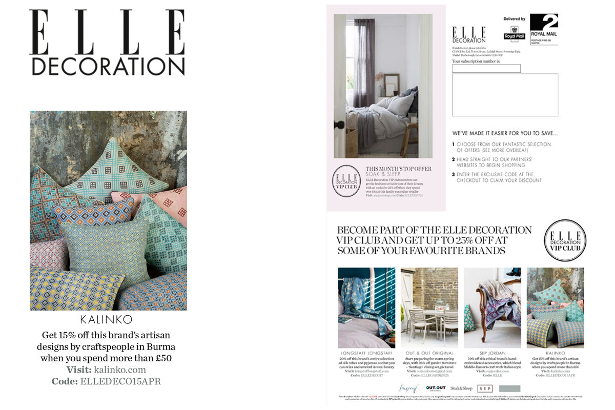 Kalinko featured in Elle Decoration