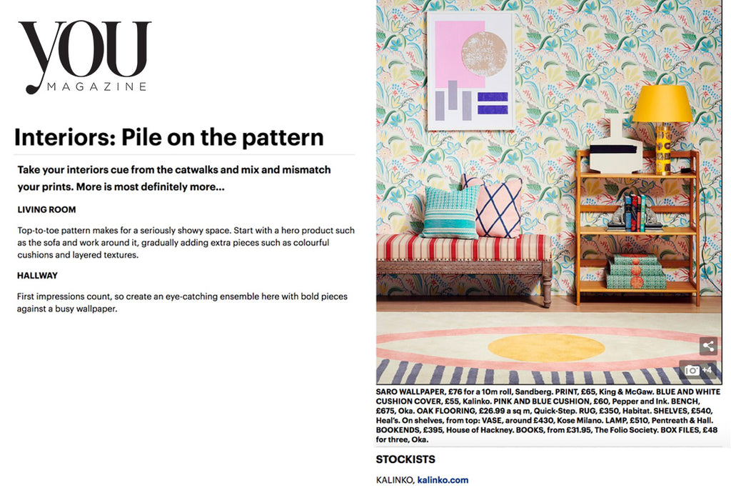 Our Mekong Cushion Cover featured in You Magazine