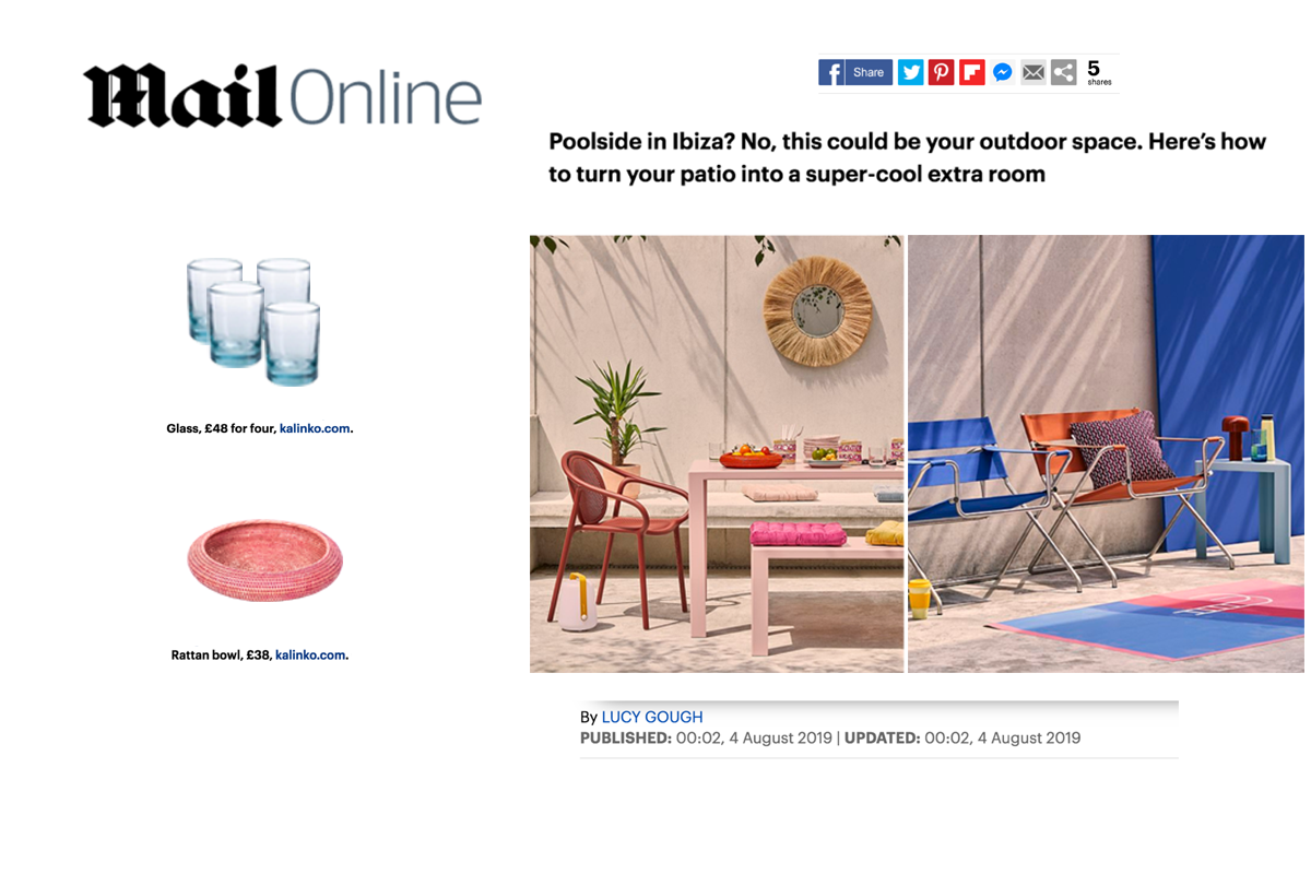 Inya Bowls and Zomi Tumblers featured in Mail Online Magazine