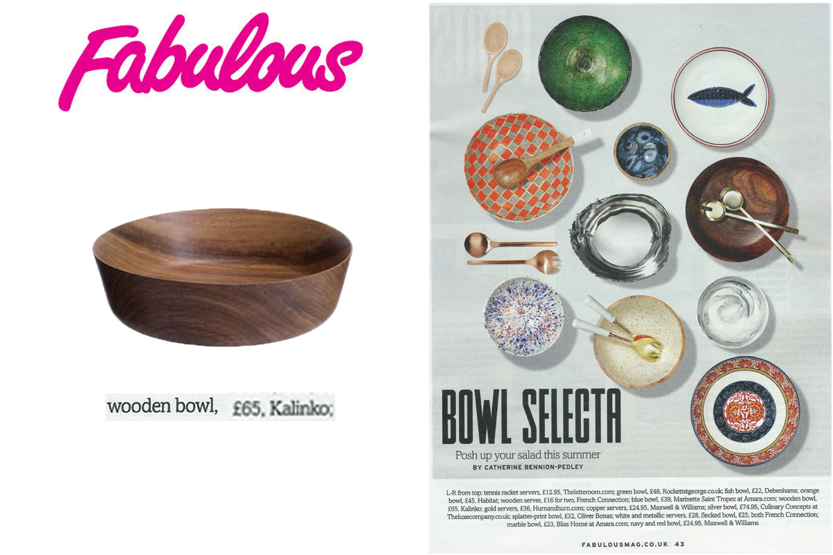 Kuki Salad Bowl in Fabulous Magazine