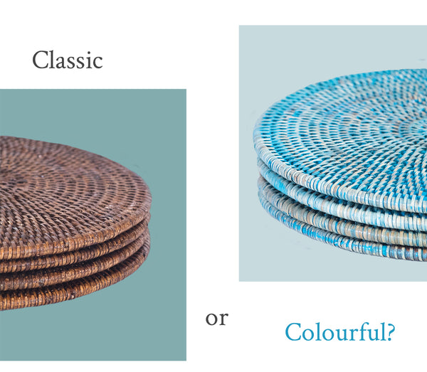 Placemats: Classic or Colourful?