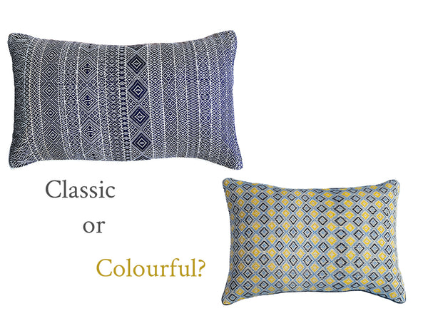 Cushions: Classic or Colourful?