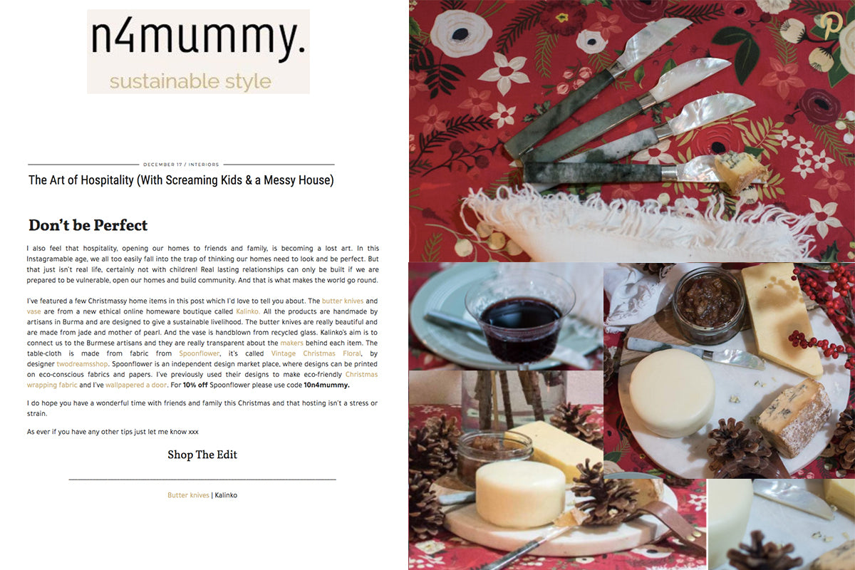 Our Minshin Butter Knives featured on n4mummy.com