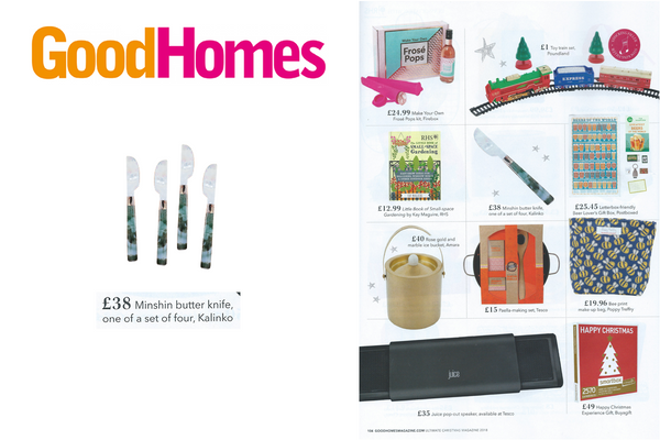 Our Minshin Butter Knives featured in Good Homes Magazine