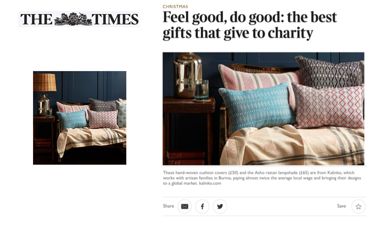 Our Cushions featured in the Sunday Times Home section and on thetimes.co.uk