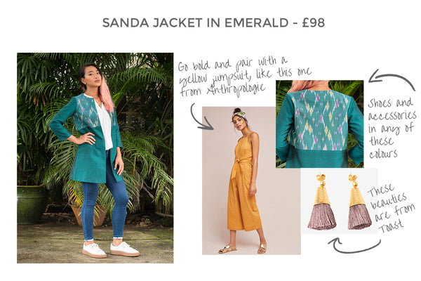 Sanda Jacket in Emerald