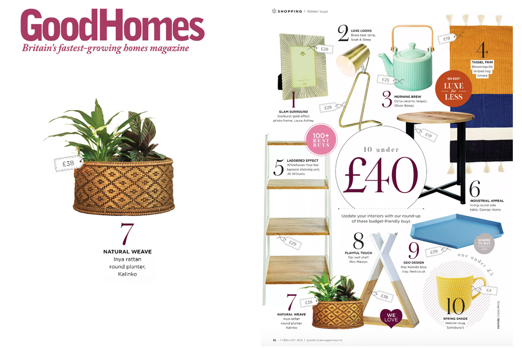 Inya Planter featured in Good Homes Magazine