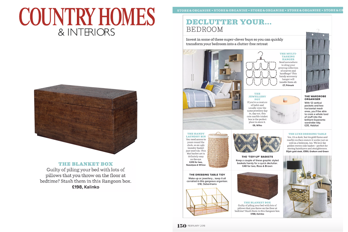 Rangoon Storage Box in Country Homes & Interiors