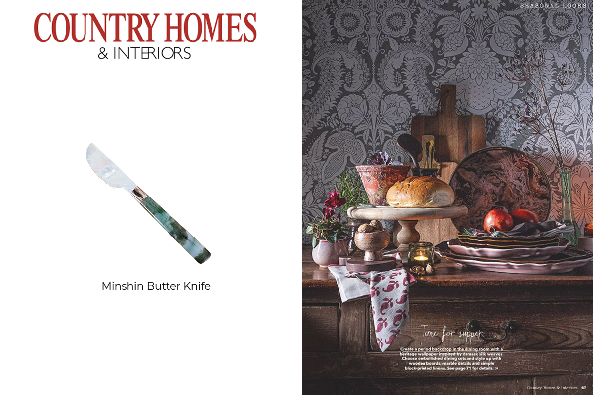 Minshin Butter Knife featured in Country Homes & Interiors Magazine