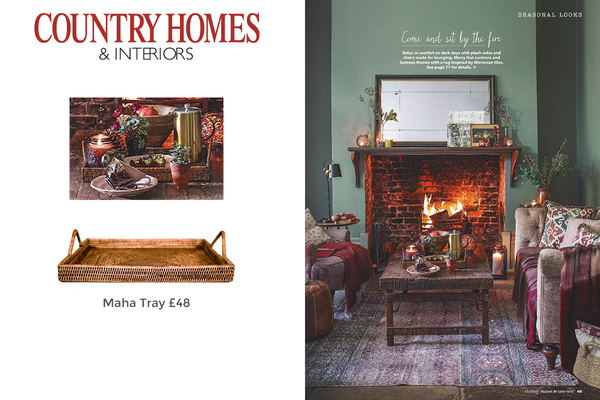 Maha Tray featured in Country Homes & Interiors Magazine