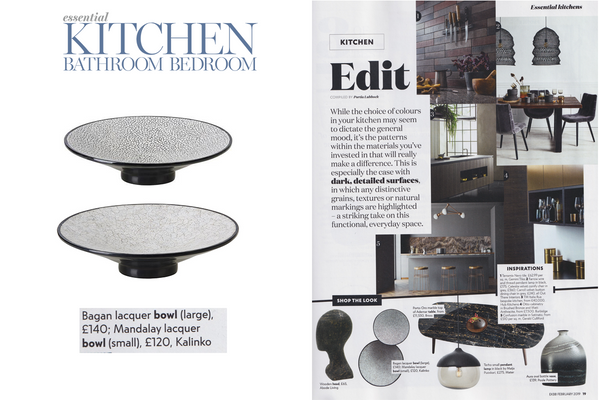 Our Lacquer and Eggshell bowls featured in EKBB Magazine