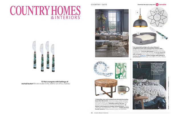 Our Lacquer and Eggshell Bowls featured in Country Homes & Interiors Magazine