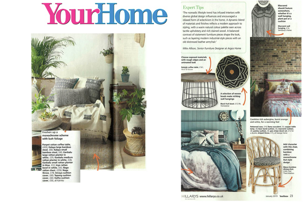 A number of Kalinko products featured in Your Home Magazine