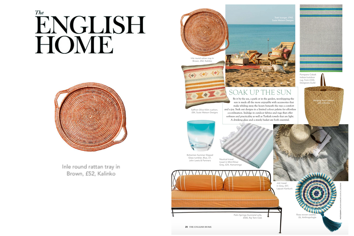 Inle Tray featured in The English Home Magazine