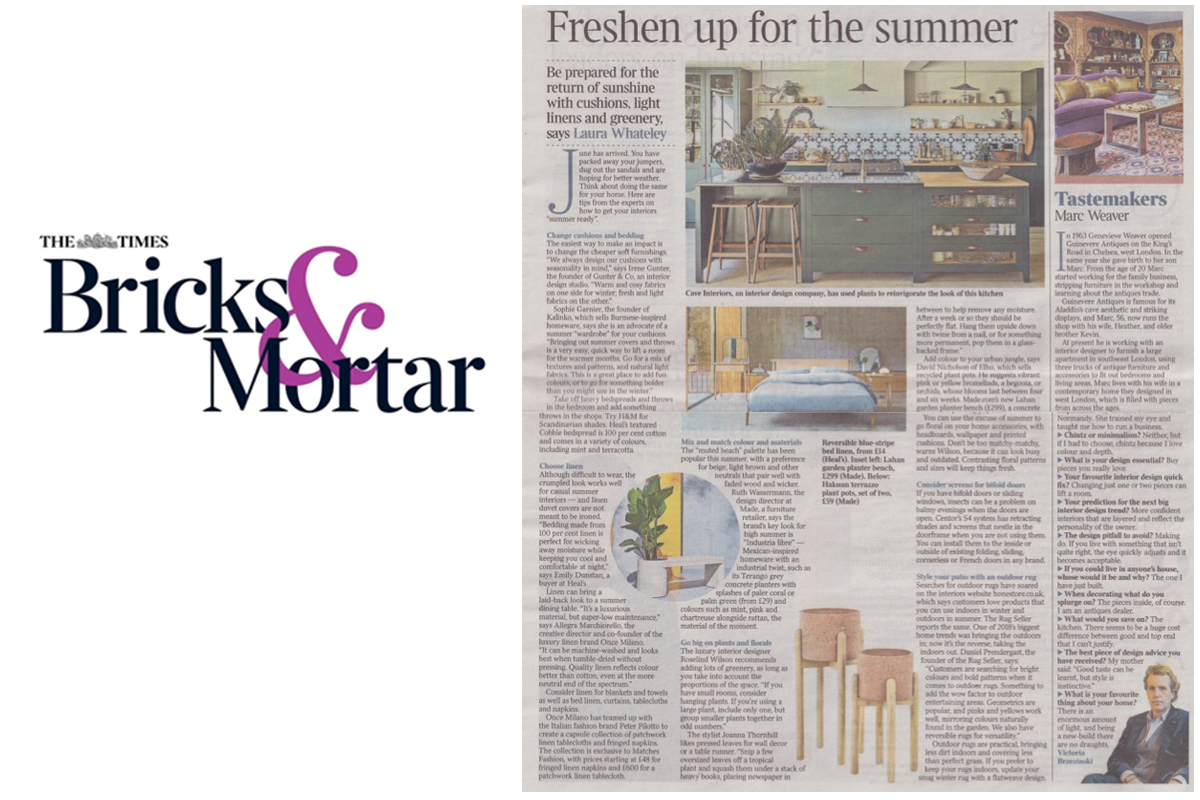 Sophie featured in The Times Bricks & Mortar Magazine