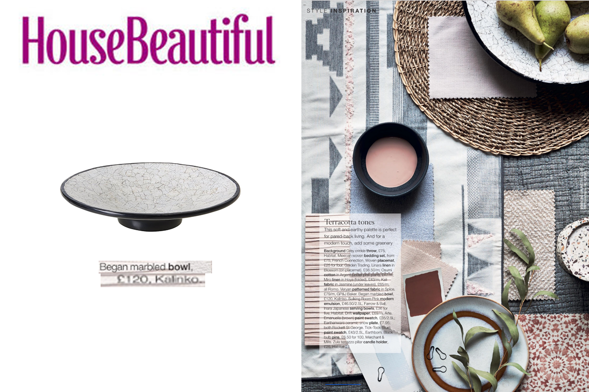 Bagan Bowl featured in House Beautiful Magazine