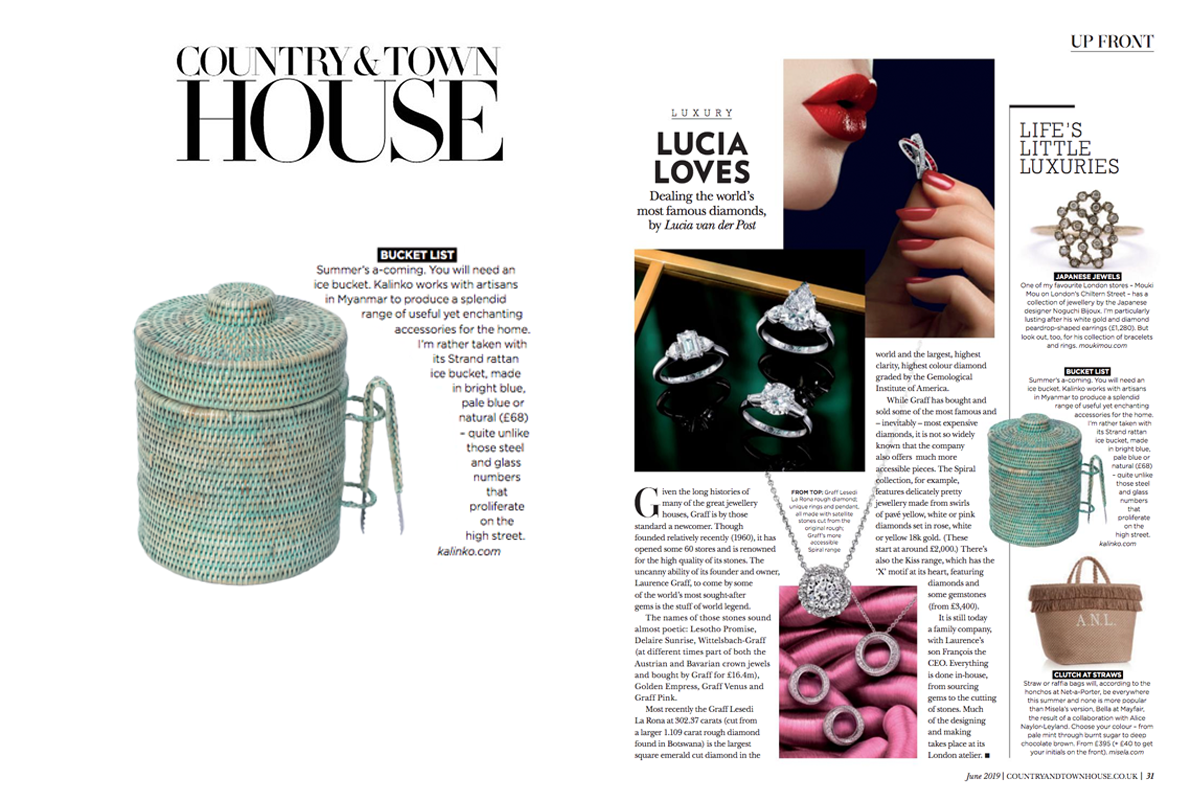 Strand Ice Bucket featured in Country & Town House Magazine