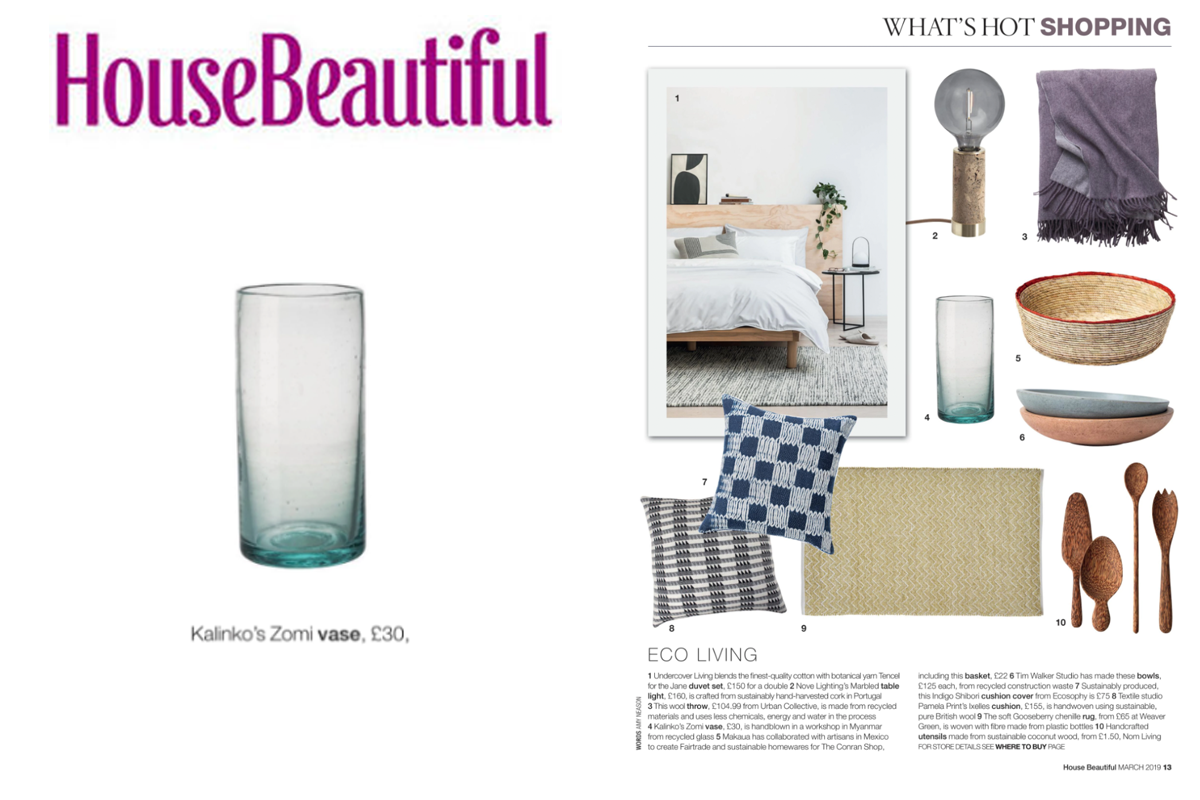 Our Zomi Vase featured in House Beautiful Magazine
