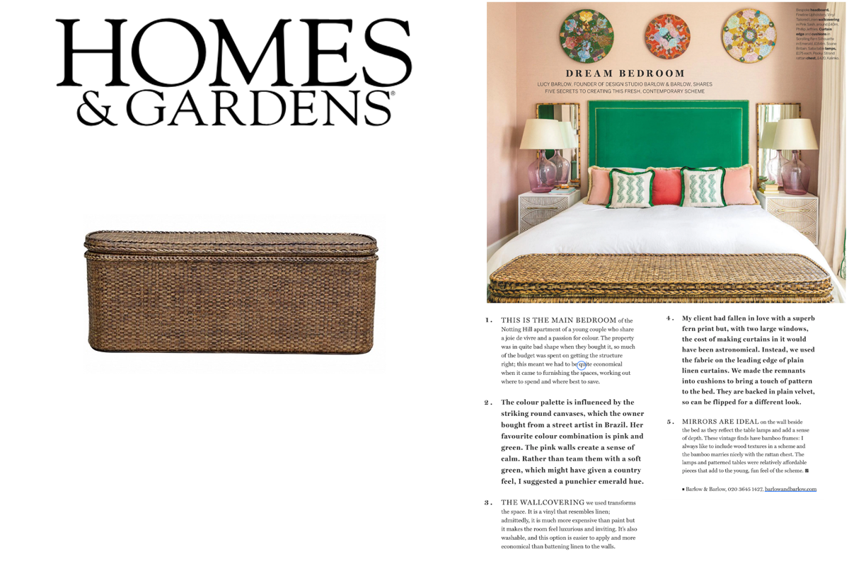 Our Strand Bed End Chest featured in Homes & Gardens Magazine