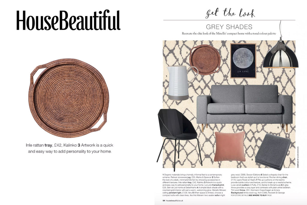 Our Inle Tray featured in House Beautiful Magazine