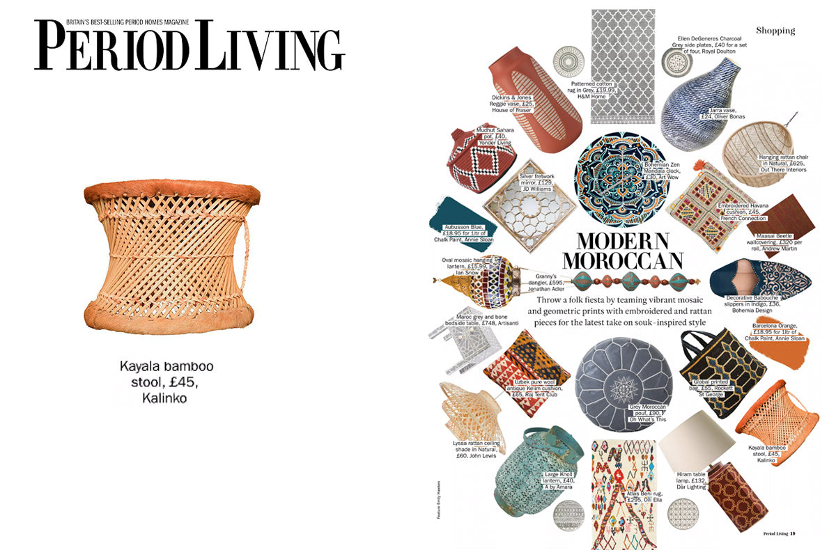 Our Kalaya Stool featured in Period Living Magazine