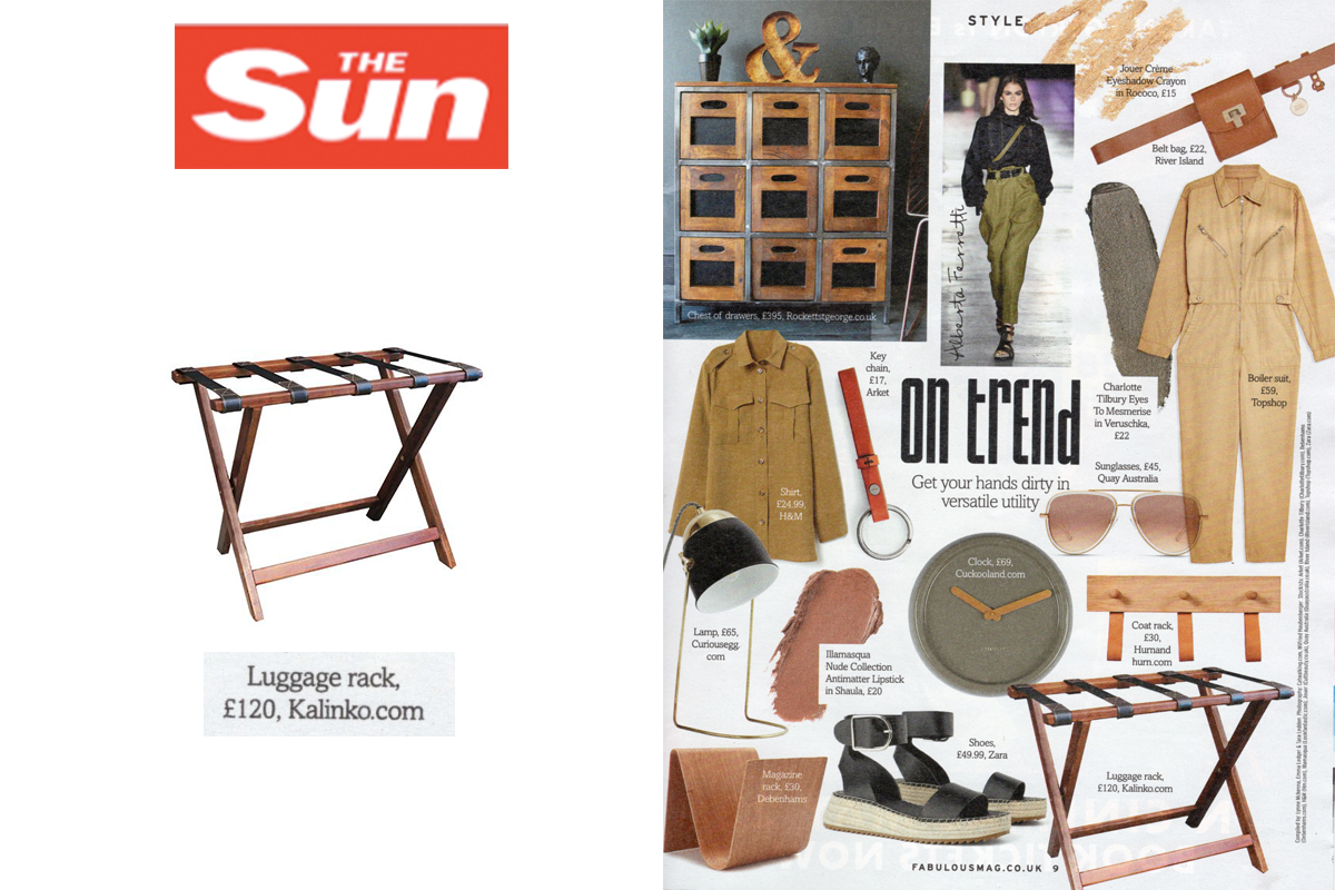 Theda Luggage Rack featured in The Sun Magazine