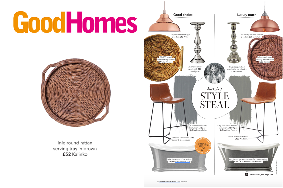 Inle Tray featured in Good Homes