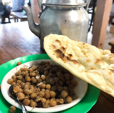 Burmese Beans and Naan Bread