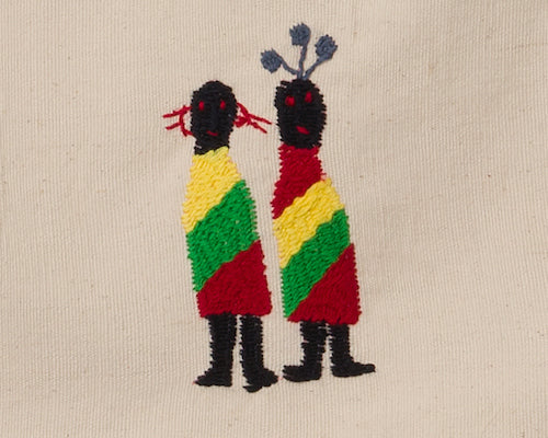 Embroidery of chin national dress