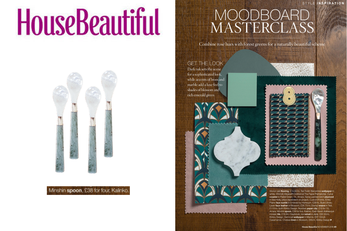 Minshin Spoons featured in House Beautiful Magazine