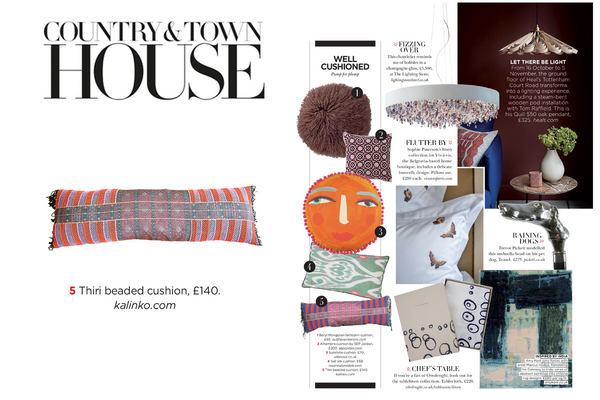 Our Thiri Cushion featured in Country & Town House Magazine