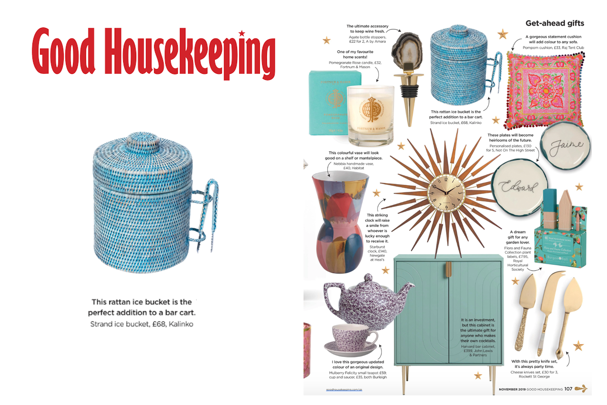 Strand Ice Bucket featured in Good Housekeeping Magazine