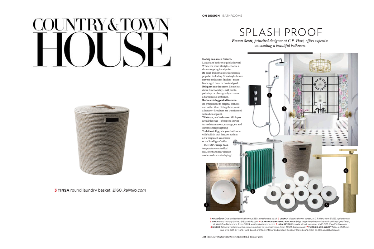 Tinsa Laungdry Basket featured in Country & Town House Magazine