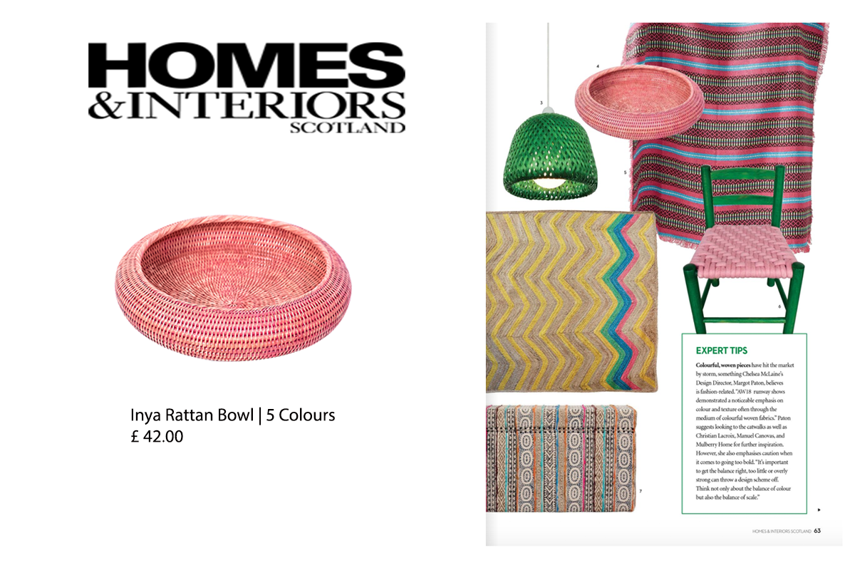 Our Inya Bowl in Homes & Interiors Scotland Magazine
