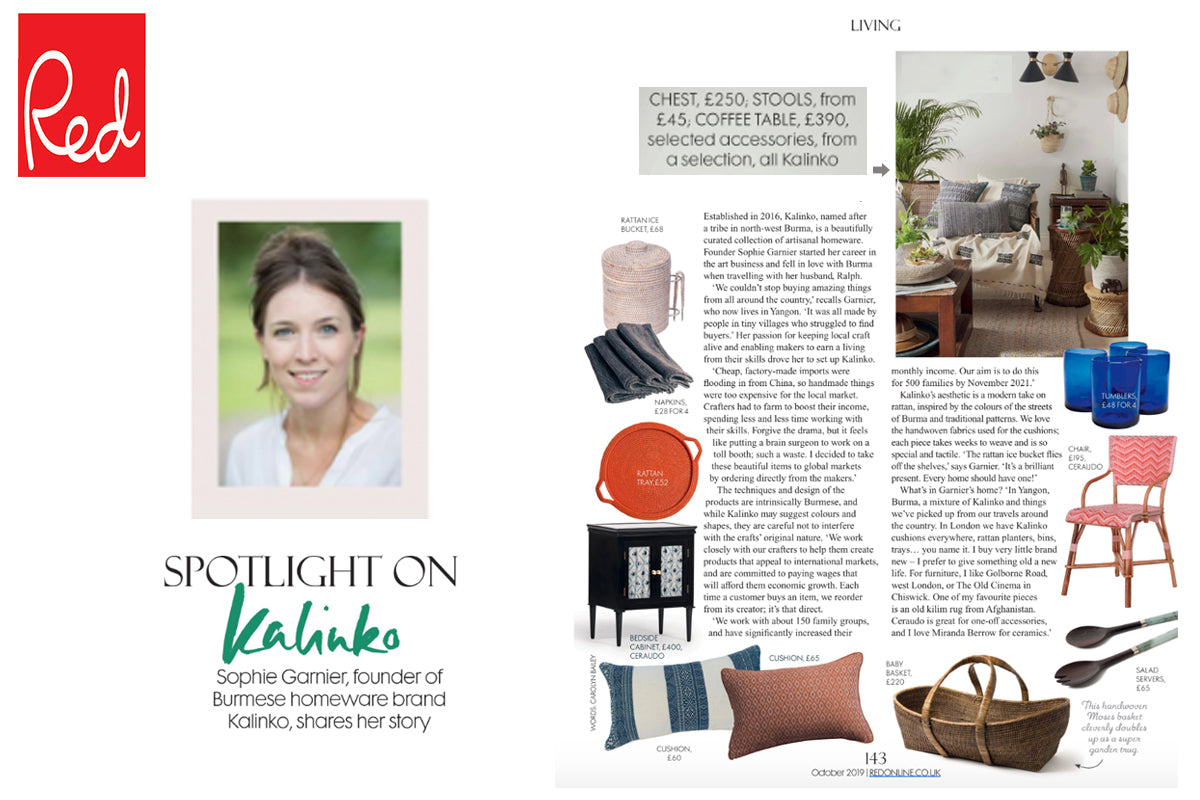 Kalinko's products featured in Red Magazine