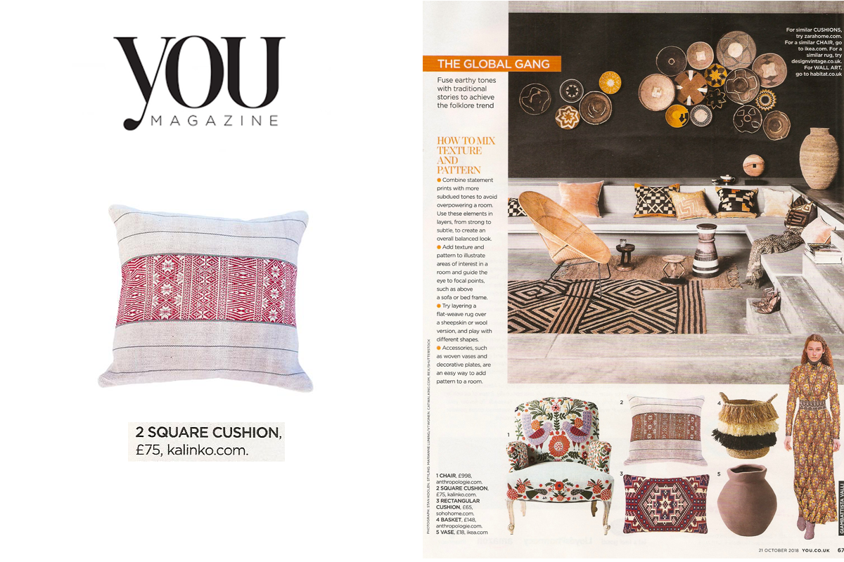 Lin Cushion Cover in You Magazine