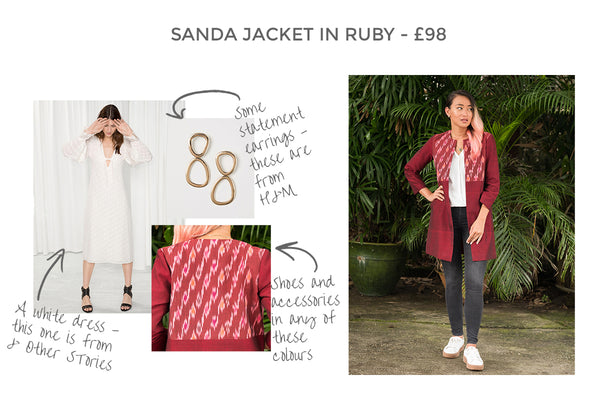 Sanda Jacket in Ruby