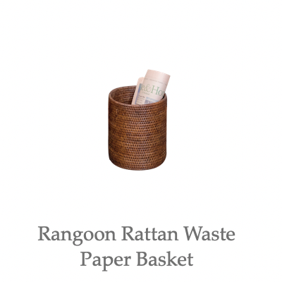 Rangoon Rattan Waste Paper Basket