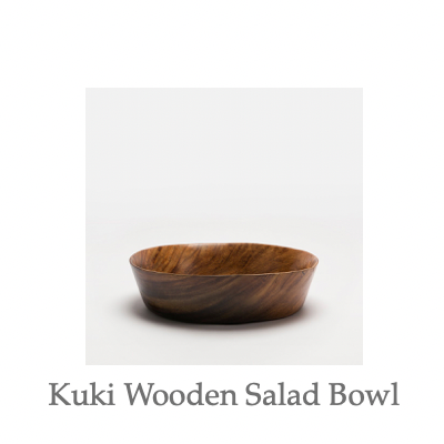 Kuki Wooden Salad Bowl