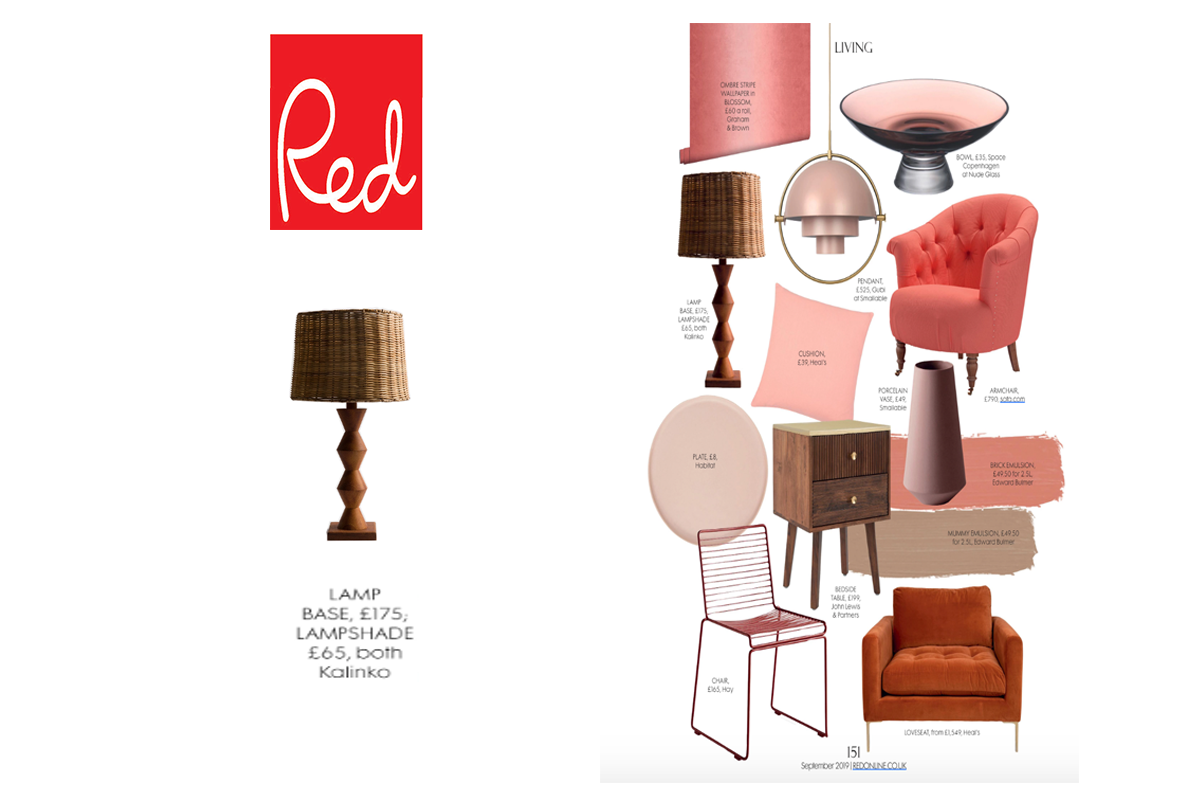 Mizo Lamp and Asho Shade featured in Red Magazine