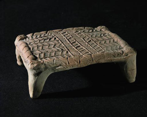 Terracotta model of a Sumerian bed, 20th-16th C B.C.