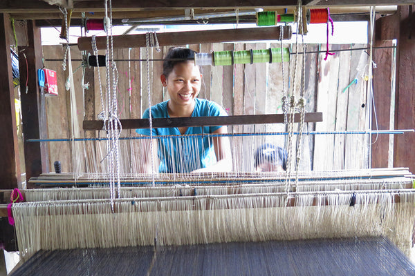 Weaver at work in Chin State, Myanmar
