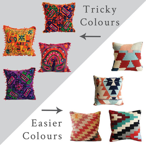 Examples of tricky and easier colours