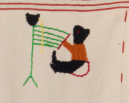 Embroidery of hand weaving