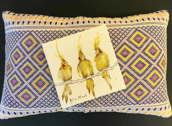 Our Kuki Cushion with Anna Wright's card