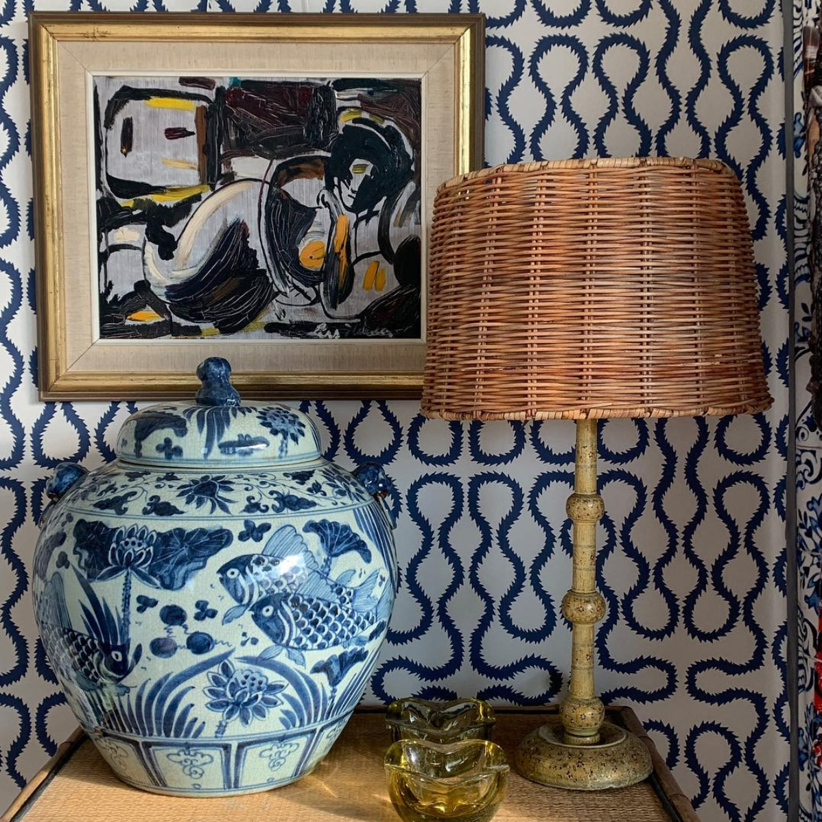 Our Asho Empire Lampshade in @etalageuk's home